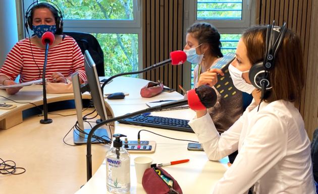 Les étudiants d'Eurêka à l'antenne